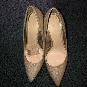 Zara Sparkly Gold Heels